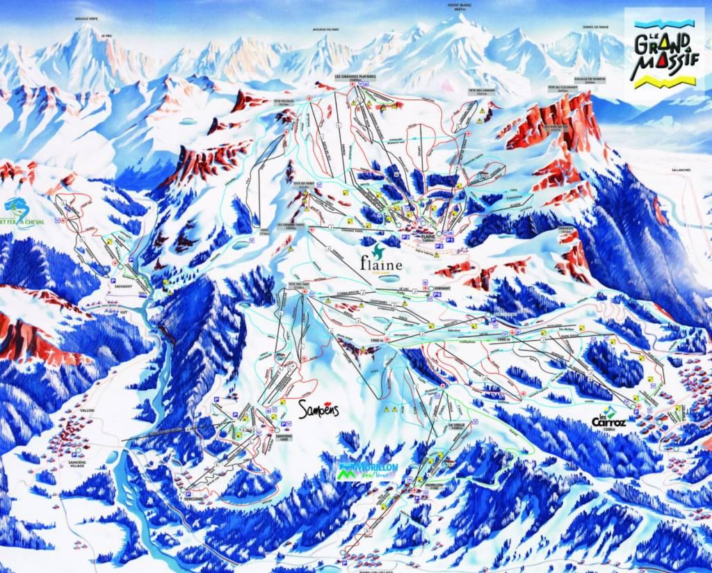 Plan des pistes Samoens