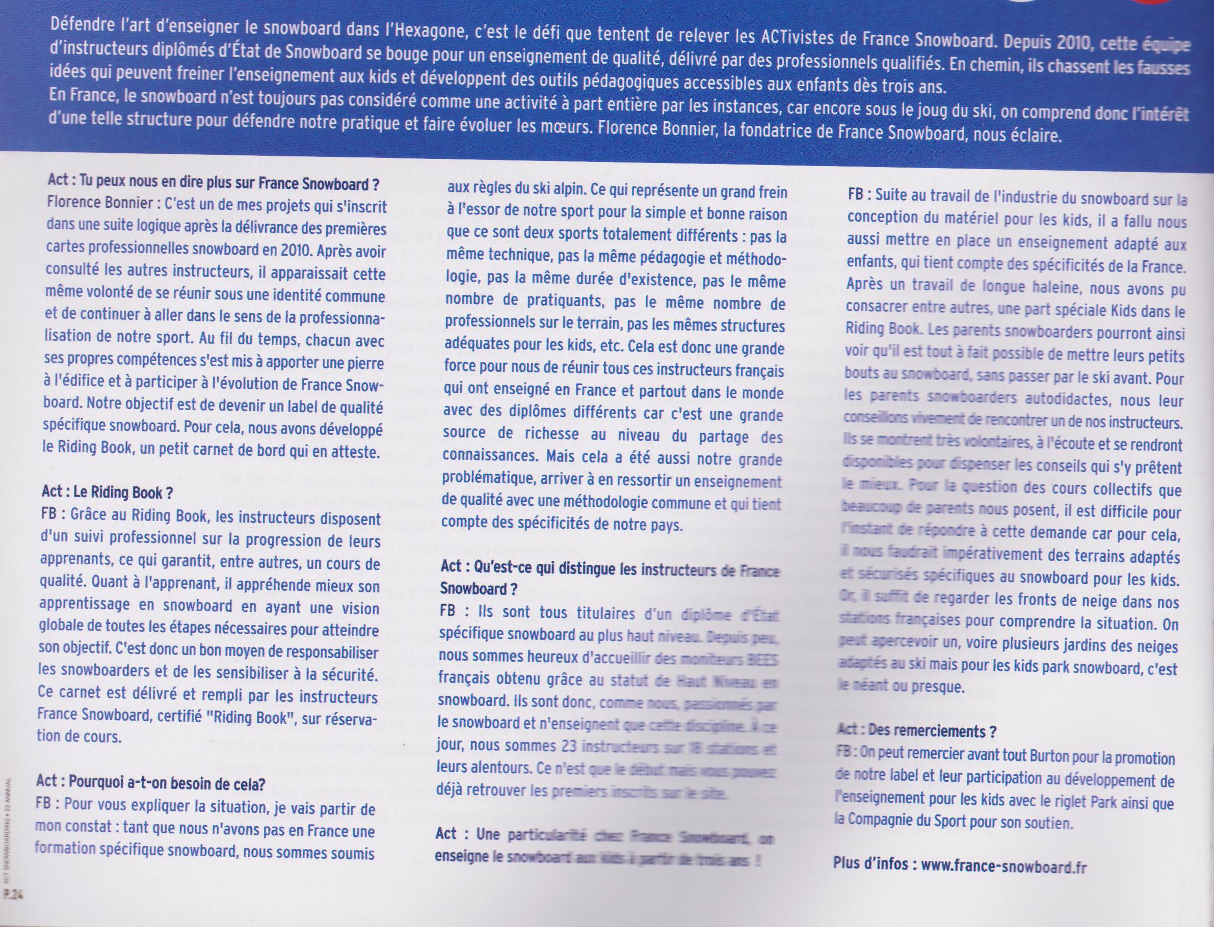 "Article ""Les Pro Activistes"" - Contenu"