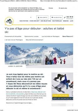 Le snowboard - Y'a pas d'âge pour débuter _ adultes et bébé ski _ Séjour et Hébergement ski avec Alpes Ski Resa P.1