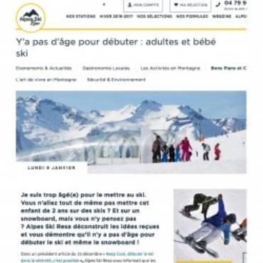 France Snowboard dans le journal de Alpes Ski Résa par la Compagnie des Alpes